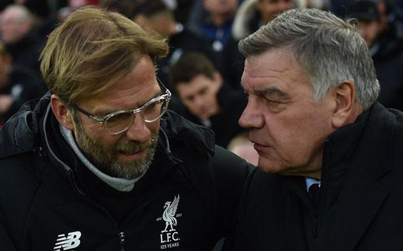 Pelatih Liverpool Jurgen Klopp (kiri) dan Sam Allardyce yang sekarang menangani West Brom. - Liverpool Echo