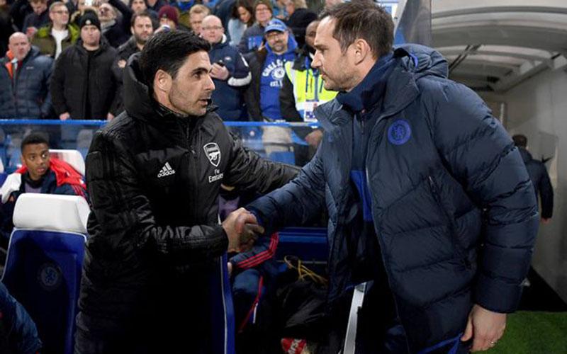Pelatih Arsenal Mikel Arteta (kiri) dan pelatih Chelsea Frank Lampard. - Football London