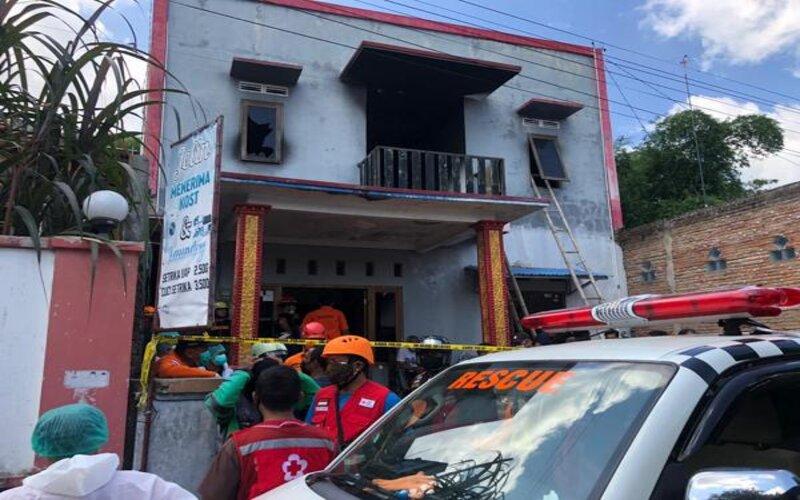 Rumah indekos di wilayah Gembongan, Kartasura, Sukoharjo, yang terbakar pada Jumat (25/12/2020) pagi. - JIBI/Ichsan Kholif Rahman