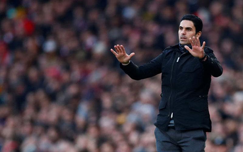 Pelatih Arsenal Mikel Arteta. - Reuters
