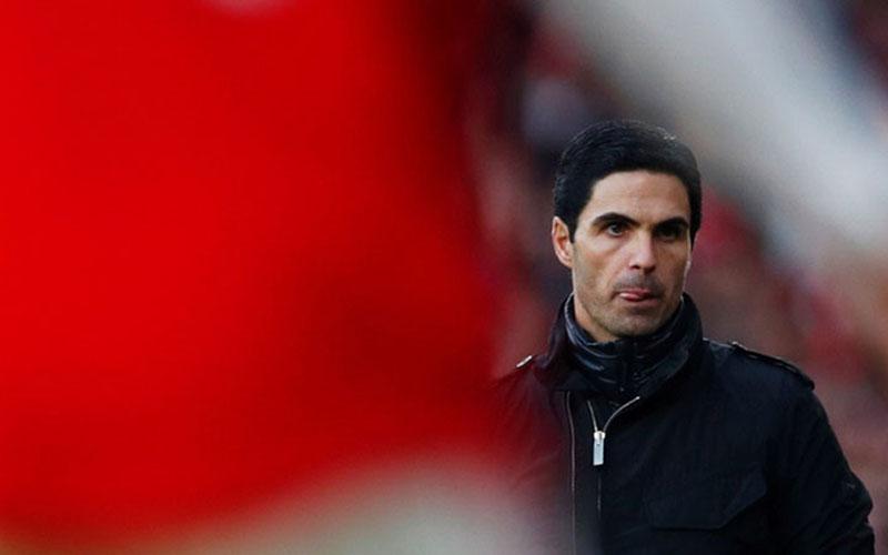 Pelatih Arsenal Mikel Arteta./Reuters - Eddie Keogh