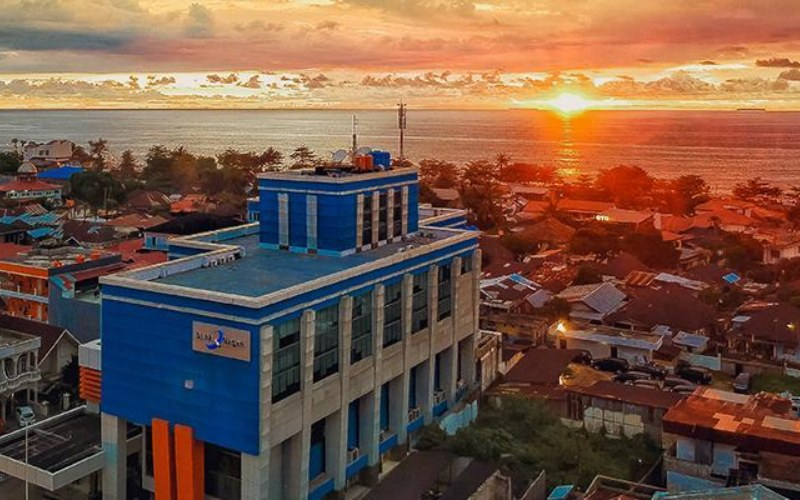 Kantor Bank Nagari, Padang. - bank nagari