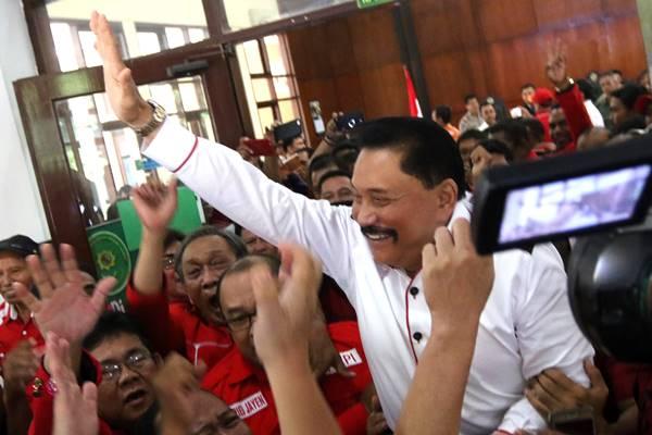 AM Hendropriyono (tengah) di Jakarta, Rabu (11/4)  - Antara
