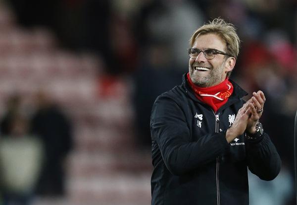 Jurgen Klopp, pelatih Liverpool, juara bertahan dan pemimpin klasemen sementara Liga Primer Inggris. - Reuters