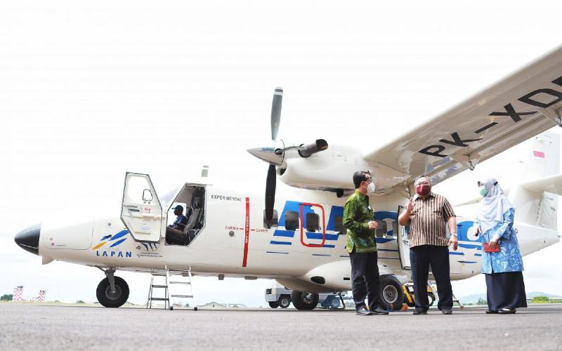 Pesawat N219 Nurtanio.  - ristekbrin