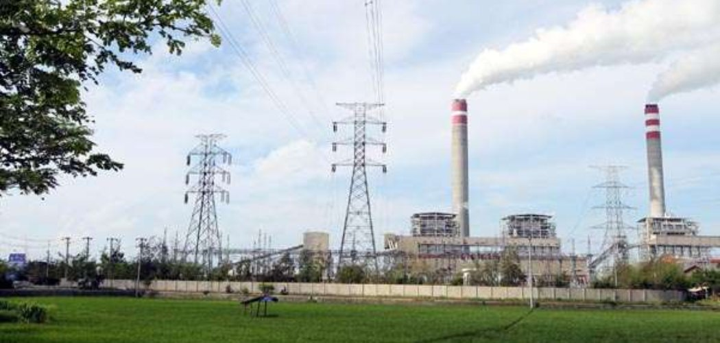 ilustrasi pembangkit listrik tenaga uap.  - istimewa