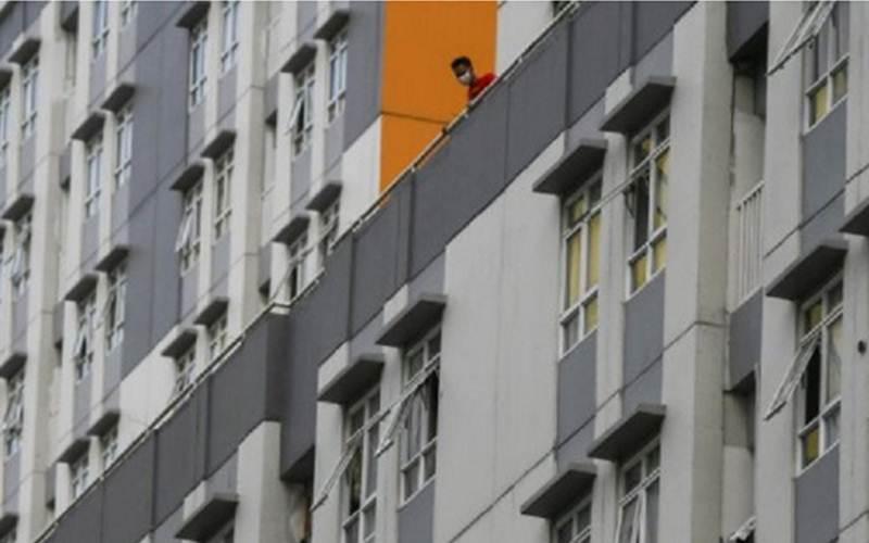 Gedung Rumah Sakit Darurat (RSD) Wisma Atlet di Kemayoran, Jakarta, tempat perawatan dan karantina pasien Covid-19. - Antara/Ariella Annasya