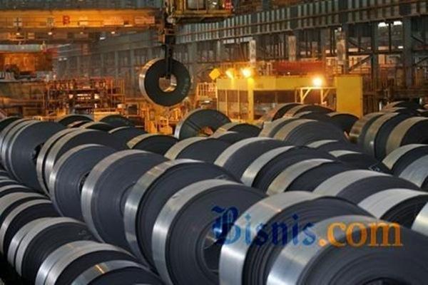 Ilustrasi: Gulungan baja yang diproduksi salah satu produsen. - Bisnis.com