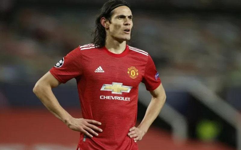 Pemain depan Manchester United Edinson Cavani/Antara - Reuters
