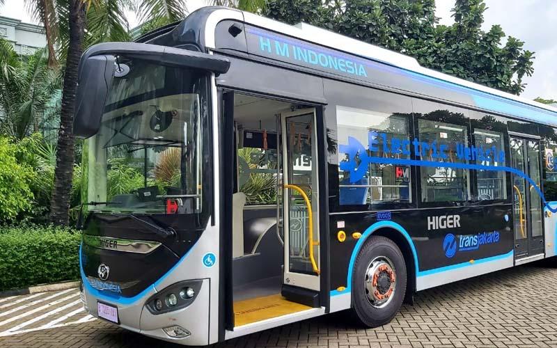 Tampilan bus Higer yang digunakan untuk Transjakarta. -  Dok. Istimewa