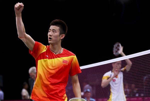 Pebulu tangkis putra peringkat teratas China Chen Long - Xinhua