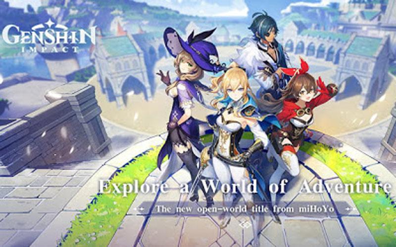 Ilustrasi game Genshin Impact.  -  Dok. Google Play Store