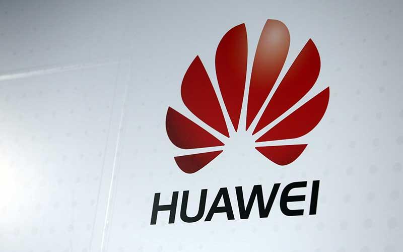 Logo Huawei Technologies Co. di Paris, Prancis. Bloomberg - Chris Ratcliffe