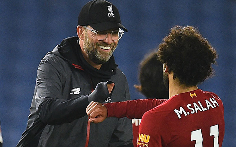 Pelatih Liverpool Jurgen Klopp dan striker Mohamed Salah  -  LiverpoolFC.com