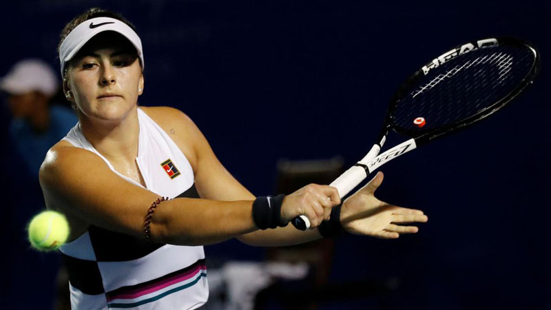 Petenis Kanada berdarah Rumania, Bianca Andreescu, juara single putri Indian Wells 2019./Reuters - Henry Romero