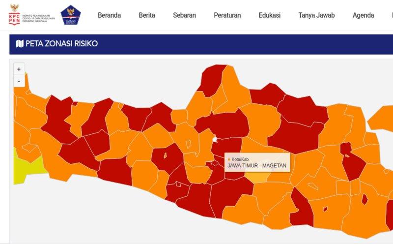 17 Daerah Di Jawa Tengah Zona Merah Covid 19 Pada Akhir 2020