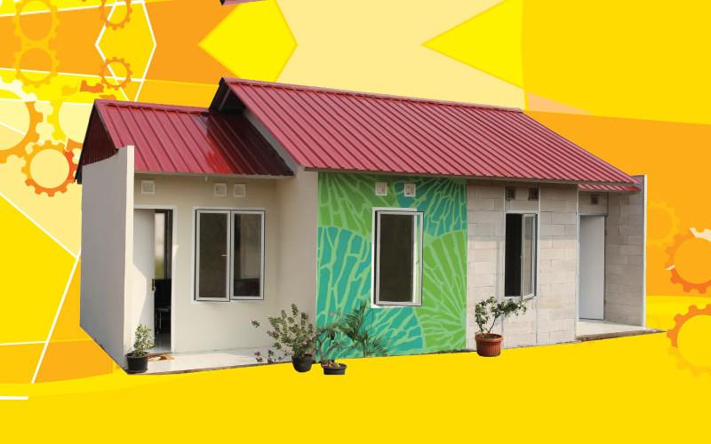 Domus adalah rumah permanen yang dibangun dengan sistem yang dikembangkan oleh PT Tatalogam Lestari.  - Tatalogam Lestari