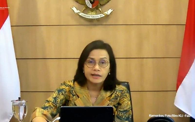 Menteri Keuangan Sri Mulyani memaparkan rancangan APBN 2021 dalam konferensi pers virtual, Selasa (1/12/2020)  -  Foto: Kemenkeu RI