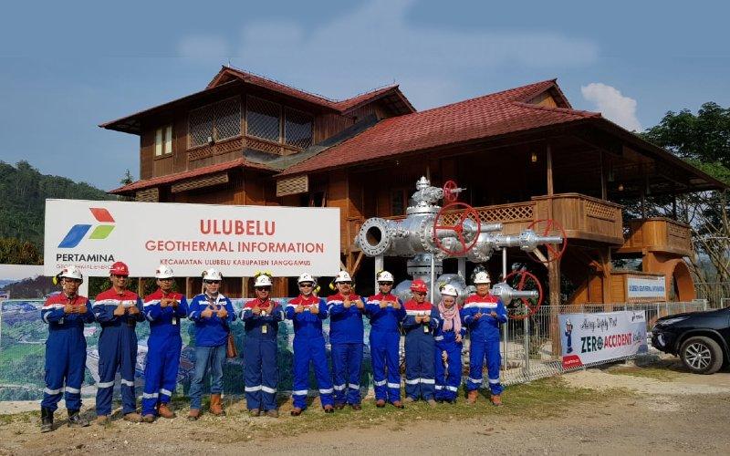 UGI yang berlokasi di PGE Area Ulubelu, Kabupaten Tanggamus Provinsi Lampung menampilkan berbagai informasi.  - Pertamina