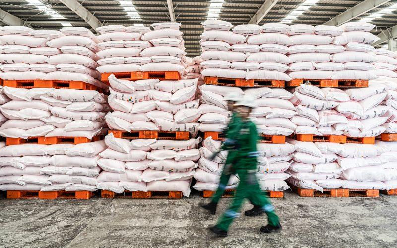 Gudang Pupuk. Untuk penebusan pupuk oleh petani pada Januari 2021, para petani diimbau memeriksa ulang atau meyakinkan kembali apakah masih ada kuota pupuk sesuai e-RDKK-nya.  - Pupuk Indonesia