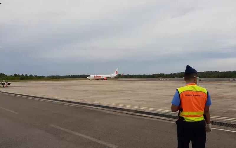 Bandara Raja Haji Fisabilillah di Tanjungpinang, Kepulauan Riau. - Antara/Ogen.