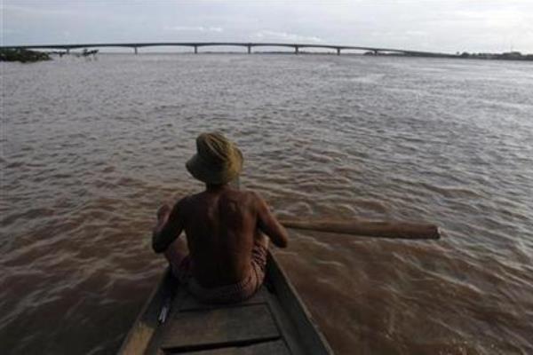 Ilustrasi: Sungai Mekong di kawasan Kamboja - Reuters/Chor Sokunthea