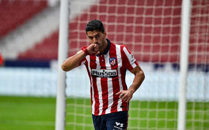 Striker Atletico Madrid Luis Suarez. - Twitter@atletienglish