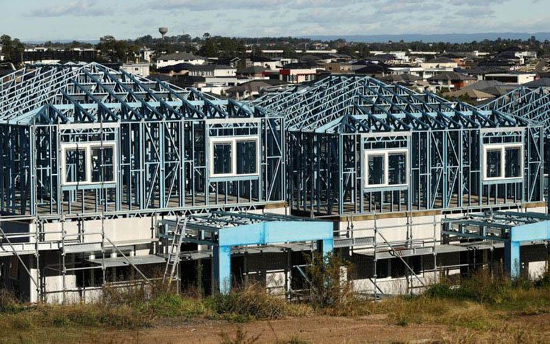 Pembangunan perumahan di Australia. - Bloomberg