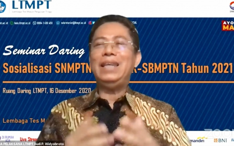 Ketua Pelaksana Eksekutif Lembaga Tes Masuk Perguruan Tinggi (LTMPT) Budi Prasetyo di Jakarta, Rabu (16/1/2020). - Antara\r\n
