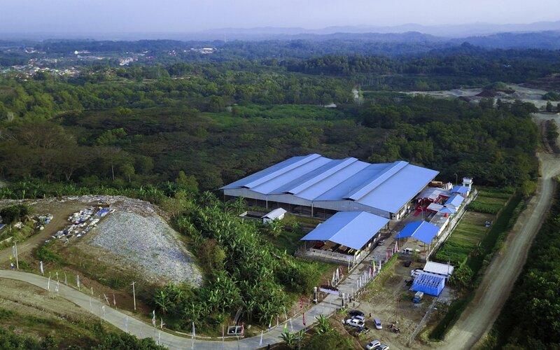 Lokasi fasilitas Tempat Pengelolaan Sampah Terpadu Refused Derived Fuel (TPS RDF) di Tritih Lor, Jeruklegi, Cilacap, Jawa Tengah.
