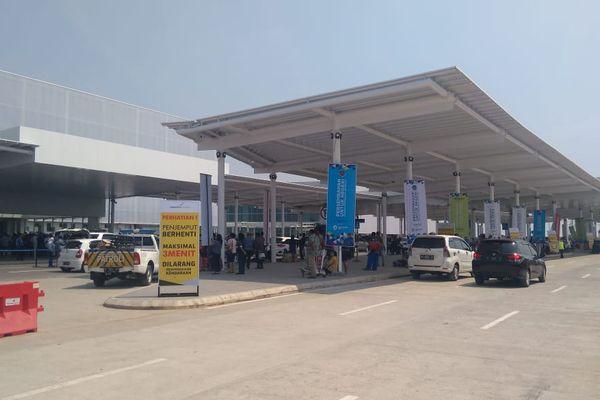 Tampak luar terminal baru Bandara Internasional Ahmad Yani, Semarang, Jawa Tengah, Kamis (7/6). - Bisnis/Yustinus Andry