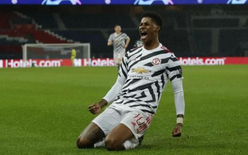 Ujung tombak Manchester United Marcus Rashford./Antara - Reuters