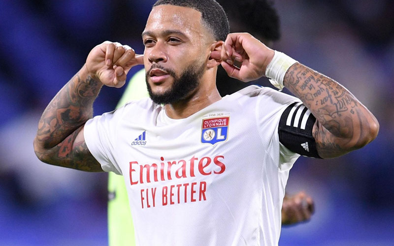 Penyerang Lyon Memphis Depay. - Ligue1.com