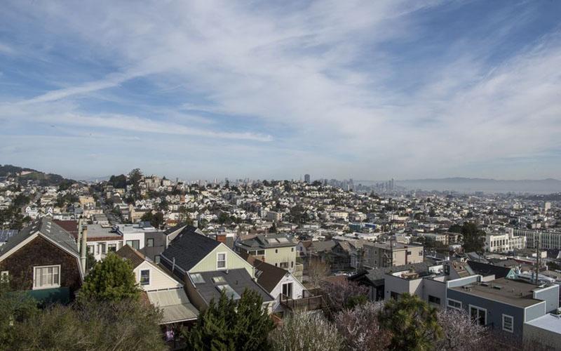 Ilustrasi perumahan di Amerika Serikat./Bloomberg - David Paul Morris