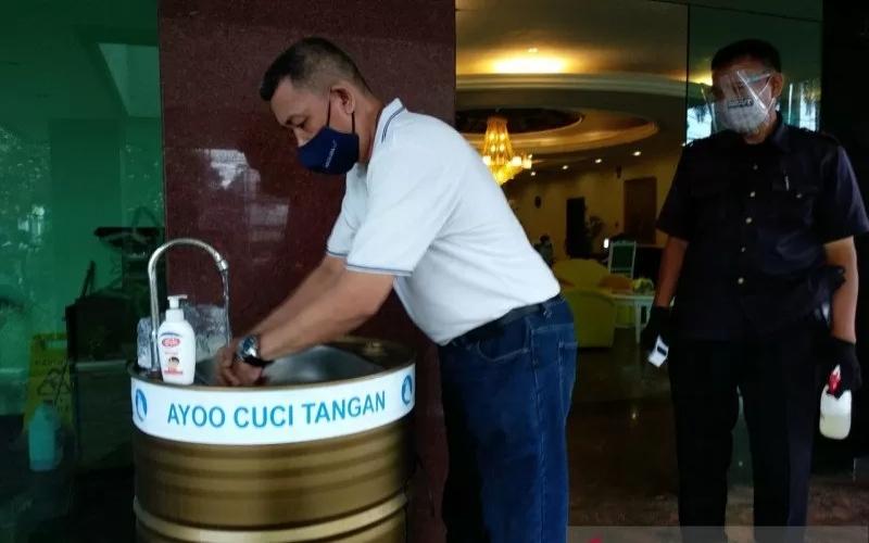 Fasilitas protokol kesehatan di loby hotel di Kota Bogor. ANTARA/Bisnis - dok hotel