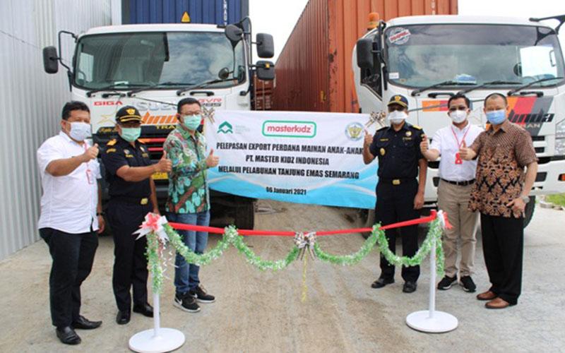 Pelepasan ekspor perdana mainan anak-anak PT Master Kidz Indonesia. - Istimewa