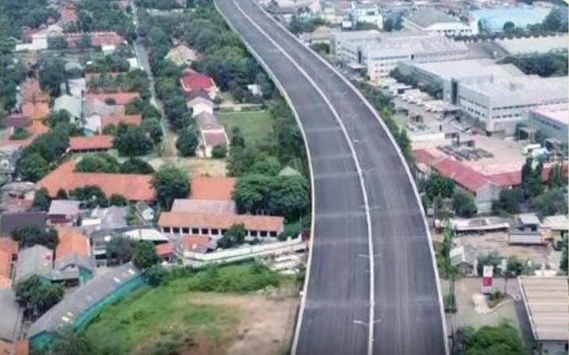 Pembangunan jalan tol Cibitung0Cilincing. - BPJT