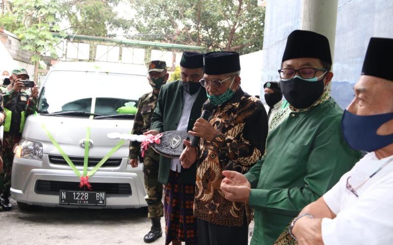 Wali Kota Malang Sutiaji (dua dari kanan) pada Musyawarah Wakil Cabang NU Blimbing di Malang, Minggu (27/12/2020) -  Istimewa