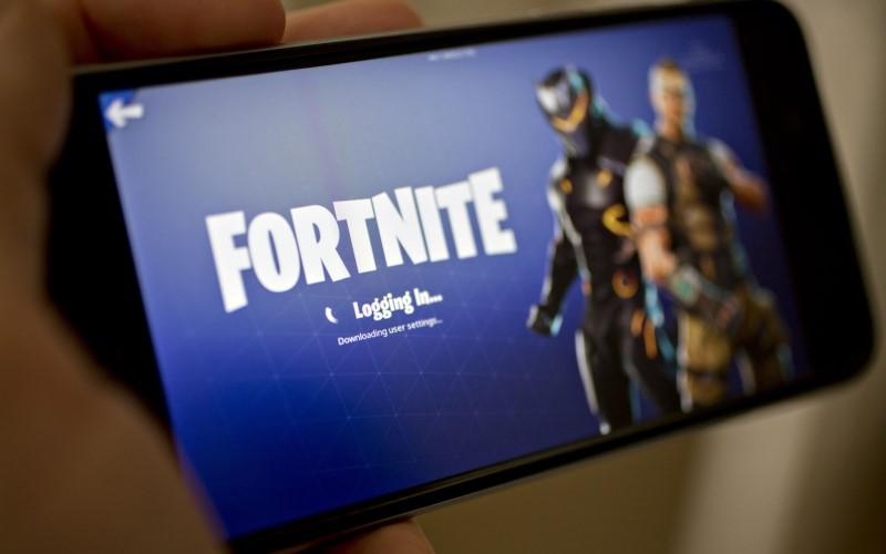 Tampilan gim battle royale Fortnite milik Epic Games - Bloomberg