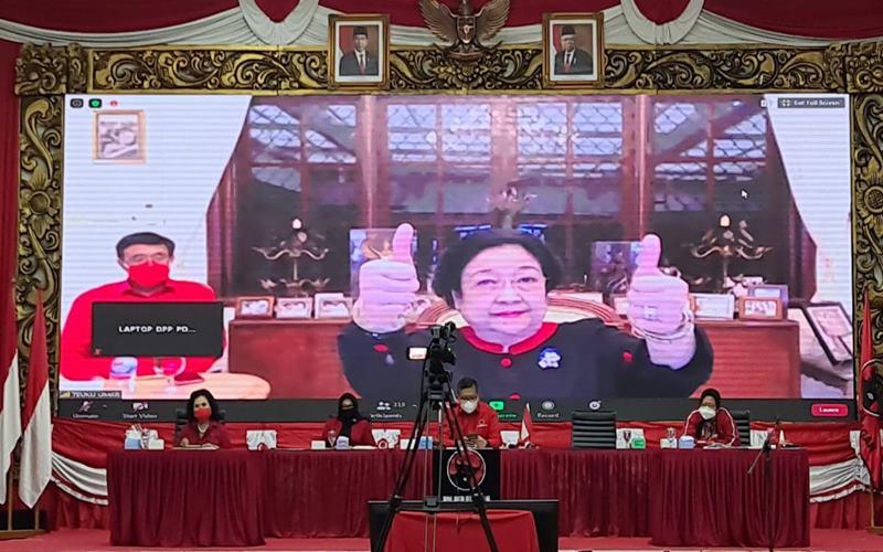 Ketua Umum DPP PDIP Megawati Soekarnoputri Rapat Koordinasi Bidang DPP PDIP dengan tema Gerakan Menanam dan Politik Anggaran: Kebijakan Terobosan Investasi, Sabtu (31/10/2020). - Istimewa