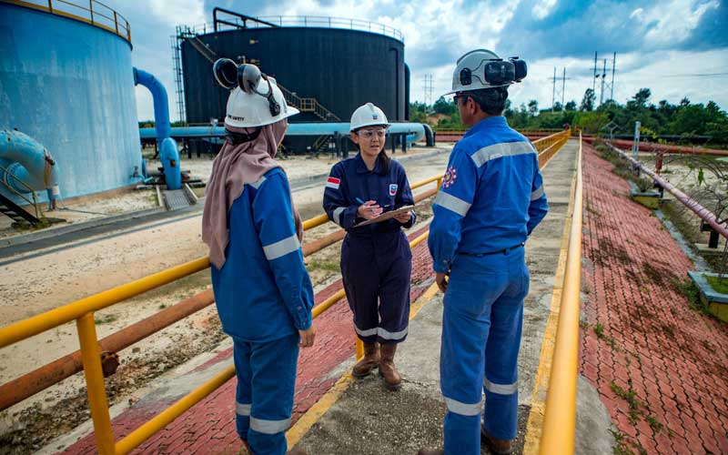 Fasilitas produksi Blok Rokan yang dikelola PT Chevron Pacific Indonesia, Minas, Riau. Dok: SKK Migas
