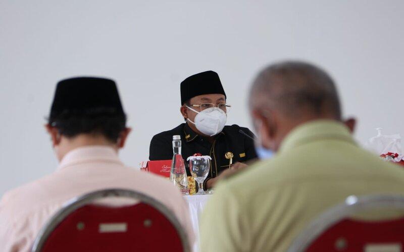 Wali Kota Malang Sutiaji pada Rapat Kordinasi Sinkronisasi Data Covid-19 di Malang, Senin (11/1/2021). - Istimewa