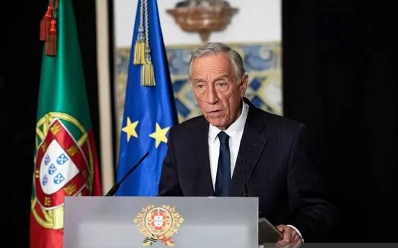 Presiden Portugal Marcelo Rebelo de Sousa menyebut keadaan darurat atas krisis karena Virus Corona di Lisbon, Portugal, Rabu (18/3/2020). - Antara/Reuters
