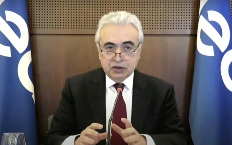 Tangkapan layar Konferensi Pers Direktur Eksekutif IEA Fatih Birol  -  IEA