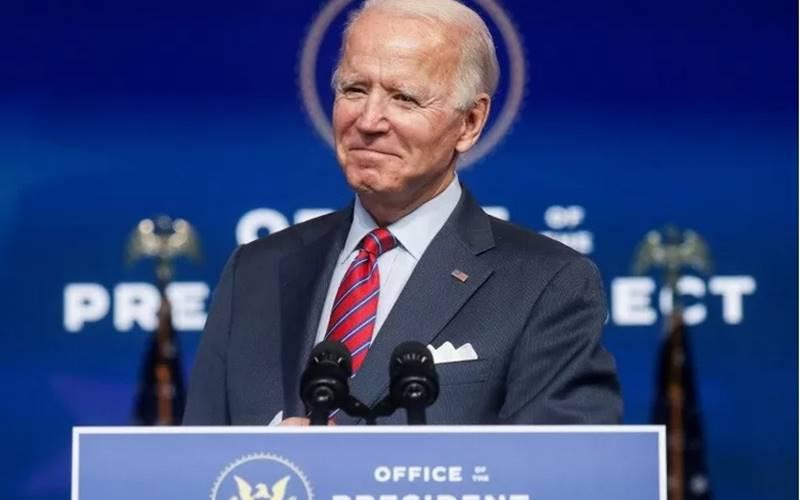 Presiden Amerika Serikat terpilih Joe Biden berbicara tentang ekonomi dan laporan kerja Amerika Serikat terakhir tahun 2020 di kantor pusat transisi di Wilmington, Delaware, Amerika Serikat, Jumat (4/12/2020). - Antara/Reuters