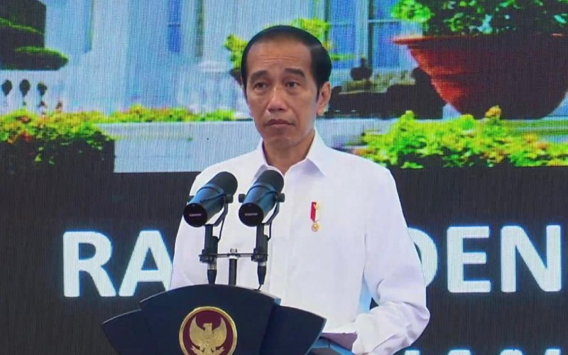Presiden Joko Widodo saat membuka rapat terbatas mengenai Penanganan Pandemi Covid-19 dan Rencana Pelaksanaan Vaksinasi di Istana Negara, Rabu (6/1/2021). - Youtube Sekretariat Presiden