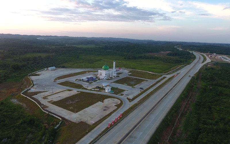 Rest area di Jalan Tol Balikpapan-Samarinda (Balsam) di Kalimantan Timur./Bisnis - Tim Jelajah Infrastruktur Kalimantan 2020