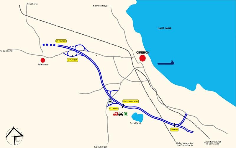 Jalur jalan tol Palimanan--Kanci (Palikanci) sepanjnang 26,3 kilometer. - PT Jasa Marga