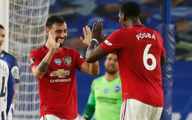 Bruno Fernandes dan Paul Pogba - Teamtalk