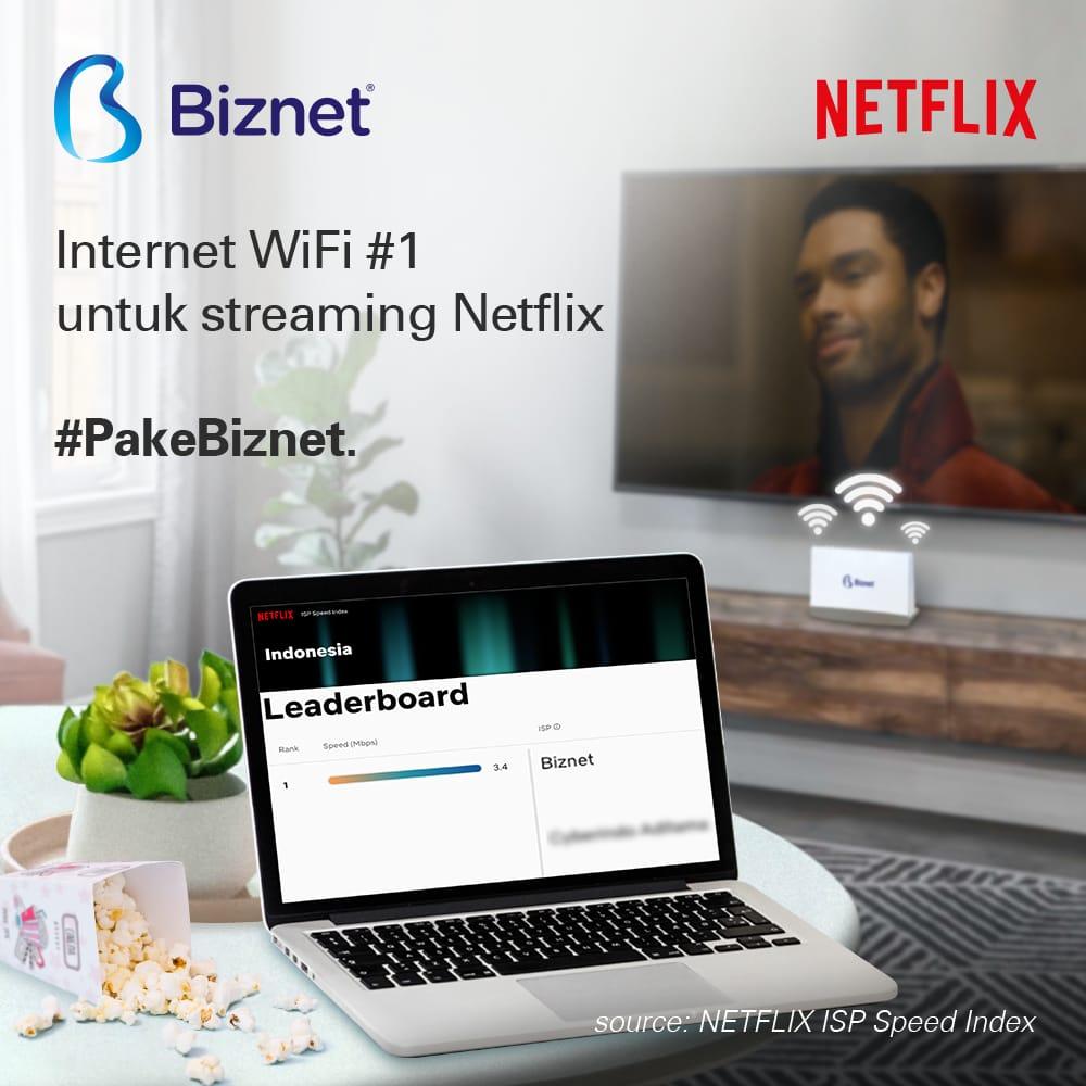 Biznet Menjadi Provider Nomor Satu dengan Kecepatan Internet WiFi Tertinggi  untuk Streaming Netflix - Teknologi Bisnis.com